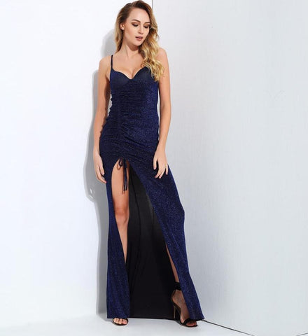 Glitter Knit Material Maxi Dress LAVELIQ