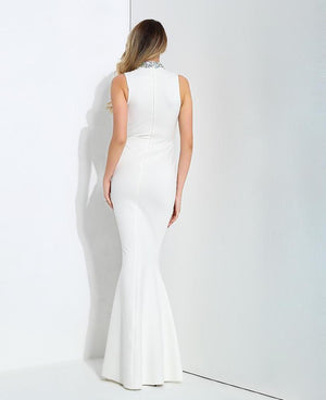 Decoration Slim Tail Shape Long Dress  LAVELIQ - Laveliqus
