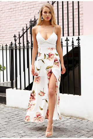Fashion Lacer Backless Midi Dress LAVELIQ