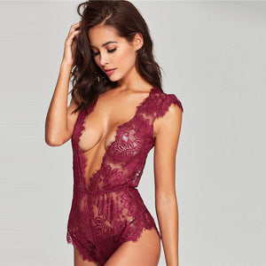 Eyelash Lace Transparent Teddy LAVELIQ - Laveliqus