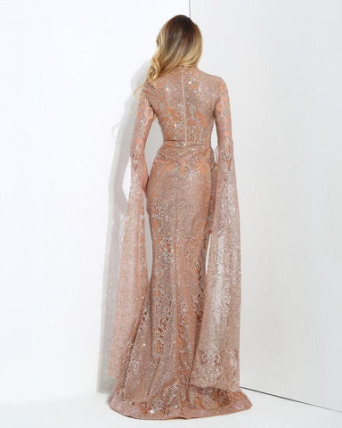 Geometry Glitter Glued Long Dress LAVELIQ