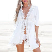 Beach Cover Up White Lace LAVELIQ - Laveliqus