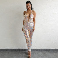 Backless Sexy Sequin Jumpsuit - Laveliqus