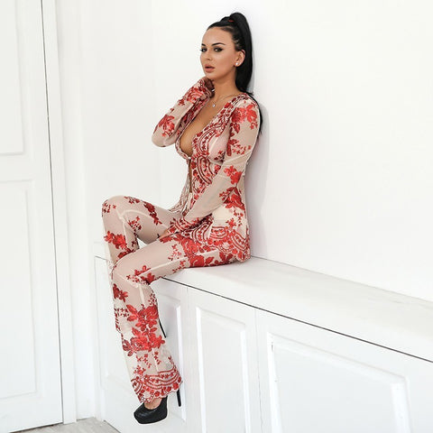 Women Two Piece Set Suit Jumpsuit Jacket and Pants