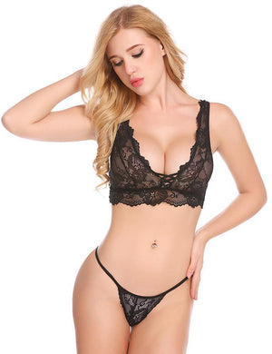 Women Sexy Costumes Babydoll Strap Lace Lingerie