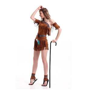 Halloween Costumes For Women Native Costume Ancient American Indians Hottie Costume Fancy Dress Savage Dress In Masquerade Party