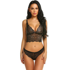 Bralette Panties Body Lingerie Set