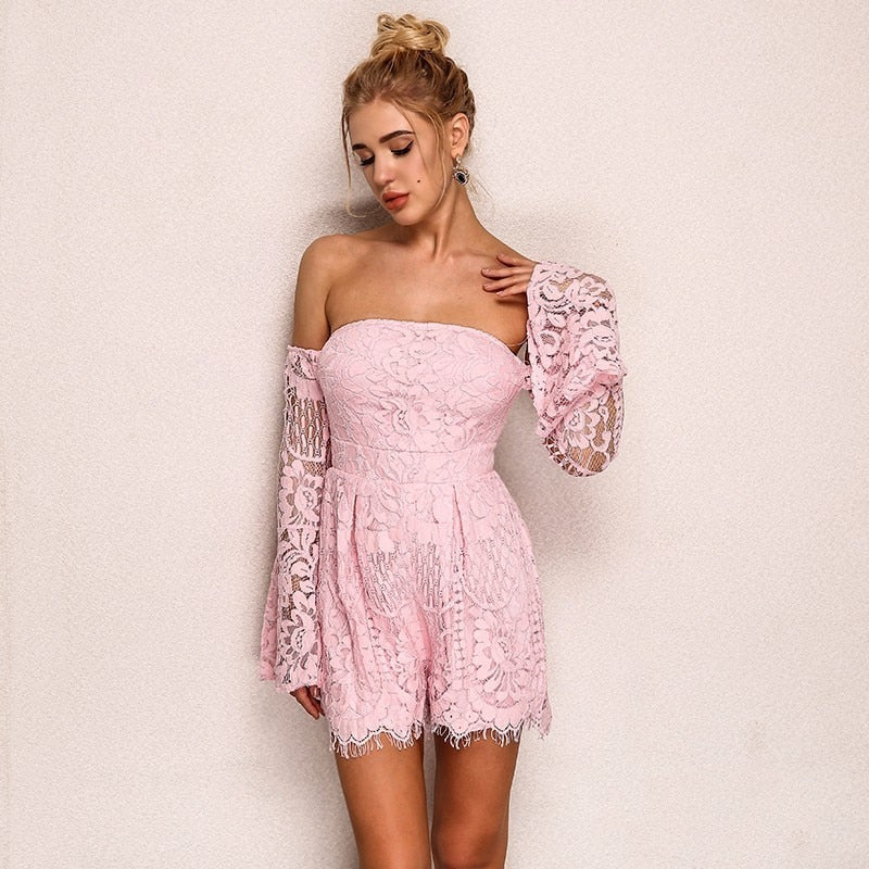 New Butterfly Sleeve Bodycon Romper