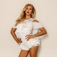 Sexy Backless Rompers Womens Short Jumpsuit