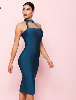 Sexy Halter Neck Bodycon Night Out Evening Party Bandage Dress LAVELIQ - Laveliqus