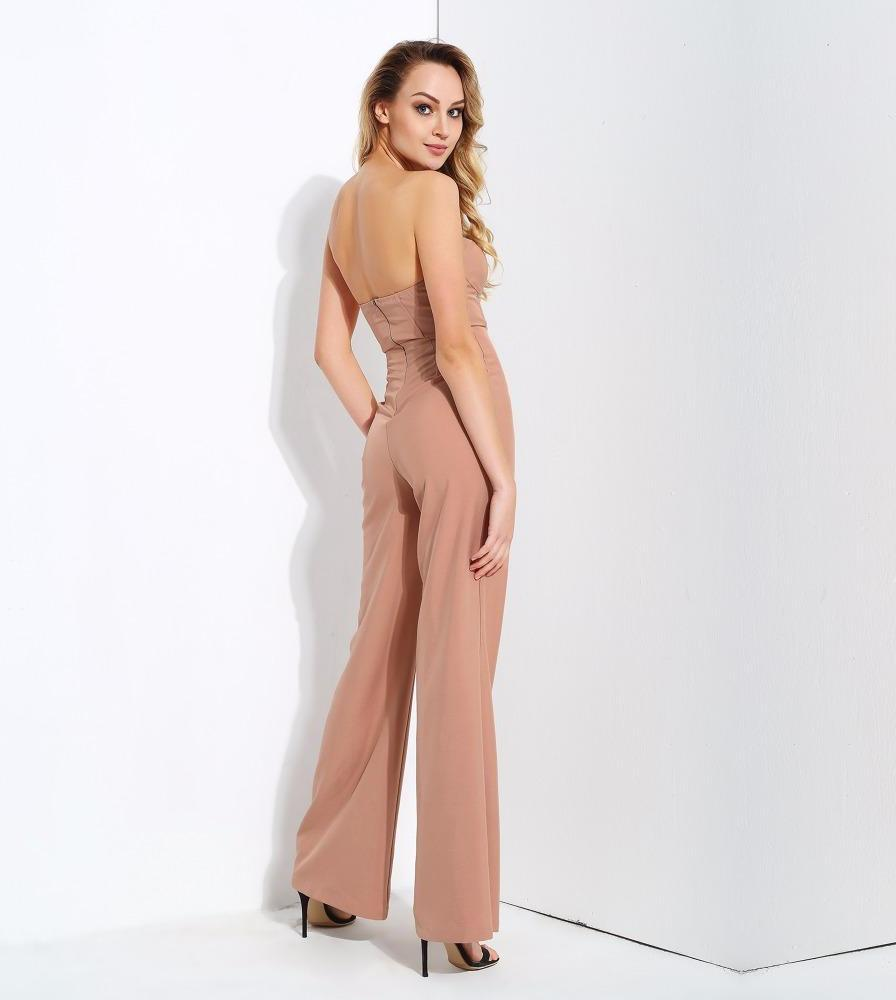 Nude  Mesh Stitching High Waist Speaker Modeling Jumpsuit LAVELIQ