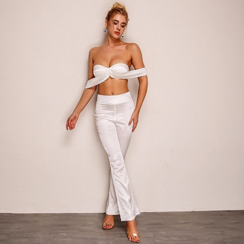 Strapless Off Shoulder Elegant Long Jumpsuit - Laveliqus