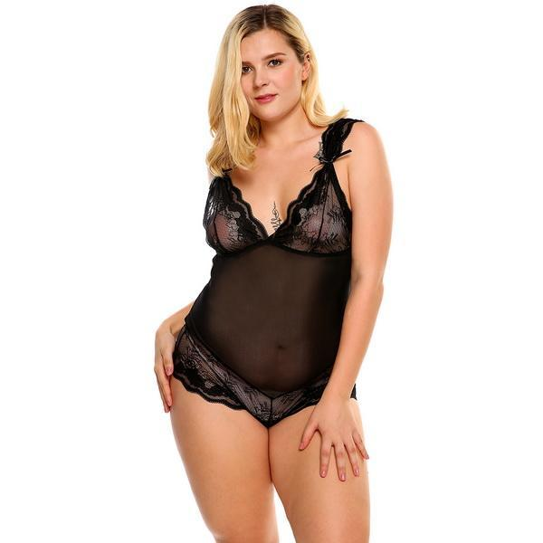 Sexy Set Exotic Apparel Lace Plus Size Lingerie