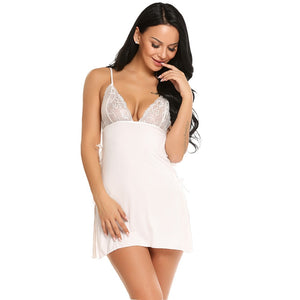 Cotton Nightgown Women Nightwear Lingerie - Laveliqus
