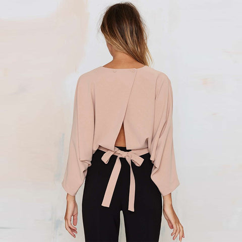 Long sleeve solid blouse LAVELIQ
