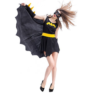 VASHEJIANG Adult Spandex Batman Costume for Adult Women Superman Cosplay Halloween Carnival Superhero Funny Uniform Dress