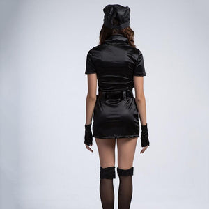 Classic Sexy Slim Police Costume for Adult Halloween Carnival Costumes for Women Fantasia Fancy Cosplay Dress YRG12