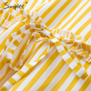 Cotton linen striped women midi dress Sexy spaghetti strap female summer sundress Elegant sashes ladies long dress