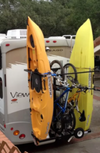 "OKR2B56 Fits  Kayaks or SUP's from 32"" to 36"" wide. (Optional Bike rack can be added)"