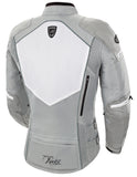 Ladies Atomic 5.0 Motorcycle Jacket | White Silver