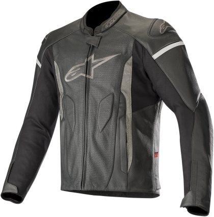 ALPINESTARS JACKET FASTER P LEATHER BK/BK