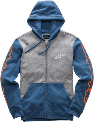 Alpinestars Hoody Machine Grey Blue