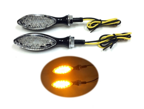 Led Turn Signal Set, Universal Fit. BLACK ( Scooter Parts )