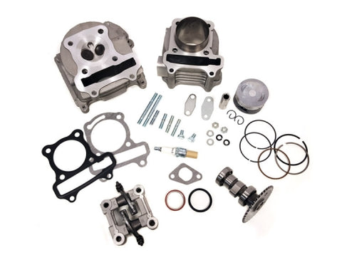 Upgrade Kit 50mm cylinder , up to 100cc (Cylinder Kit + Cylinder Head + Camshaft) **70mm Valves EGR ( Scooter Parts )