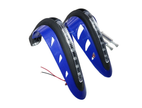 MYK Universal hand guards for off road bikes *Blue Led* - BLUE ( Scooter Parts )