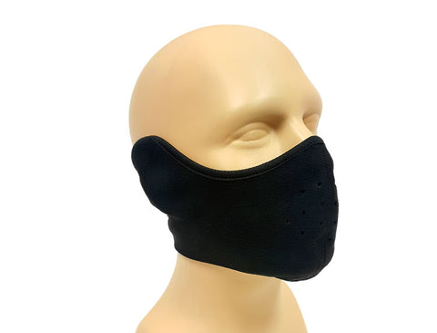 Motorcycle Face Mask 3/4 Black