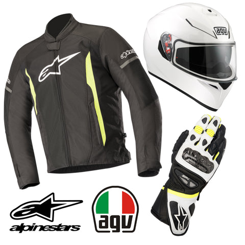 "ULTIMATE RIDING KIT ""BLK/WT/YL"""