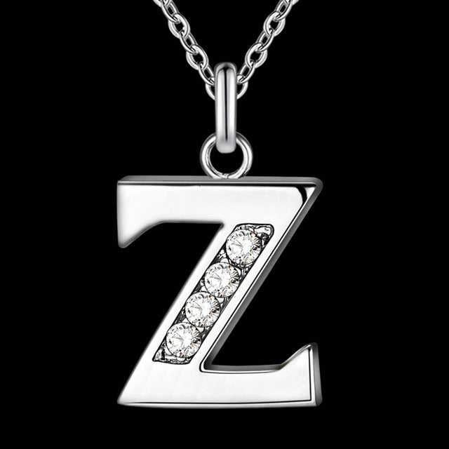 Sterling silver letter necklace t z modern style store sterling silver letter necklace t z aloadofball Choice Image