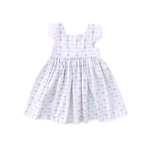 Mayday Dress - Plaid with Lace Flutters