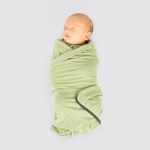 "The soft and silky swaddle blanket has the perfect amount of stretch to wrap your baby in and keep your baby secured and cozy at the same time. Measures 39""x 39"", a perfect size for a generous swaddle, a receiving blanket, a stroller cover, and more."