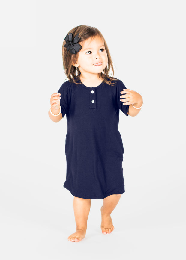 Bamboo Basic Button Dress