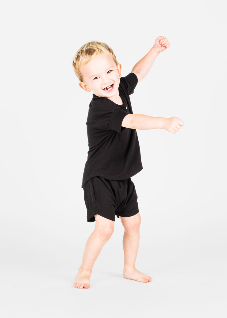Bamboo Basic Button Shirt and Shorts