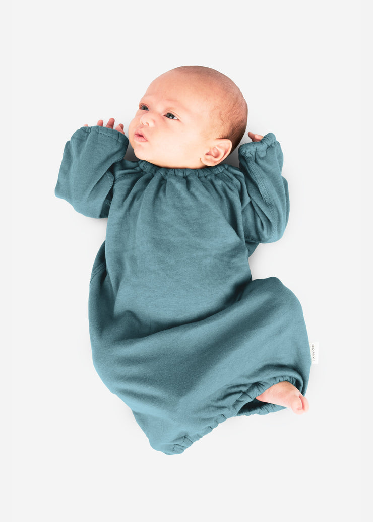 newborn gown pink gray blue green white baby bamboo