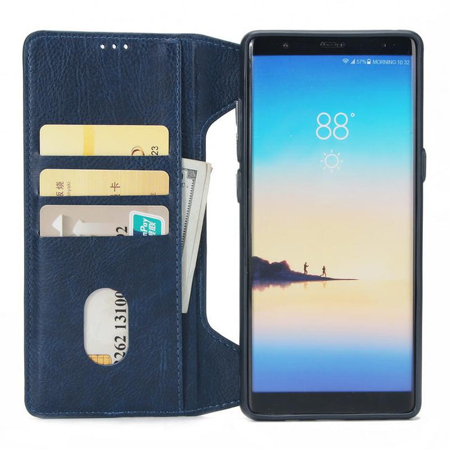 Multifunction Zipper Real Leather Case For Samsung C0Y23026
