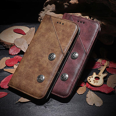 Retro Leather Wallet case For BlackBerry Key2 SN0K210720