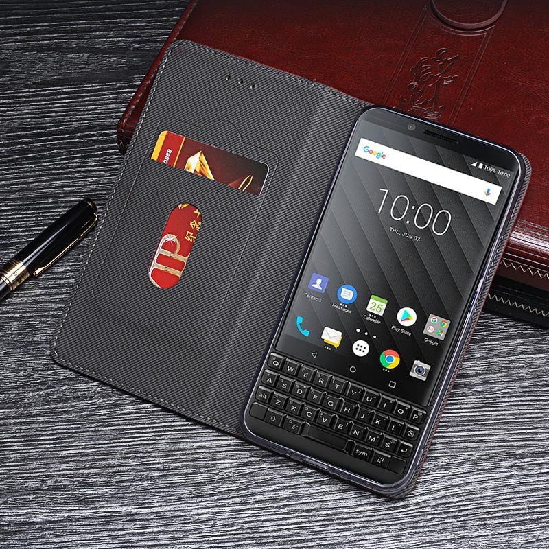 super popular b82cb 7bf45 Retro Leather Wallet case For BlackBerry Key2 SN0K210720