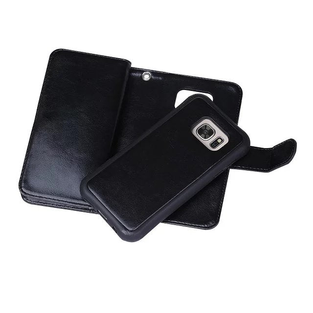Genuine Leather Wallet Case For Samsung L0Y25027