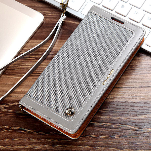 promo code 33c70 1c980 Leather Wallet Case For Samsung Galaxy S9/S8/S7/Note 8 ZTTK100802