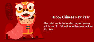 Store closure during Chinese New year