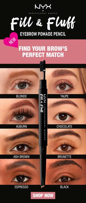 NYX Fill & Fluff Eyebrow Pomade Pencil - Shopping District