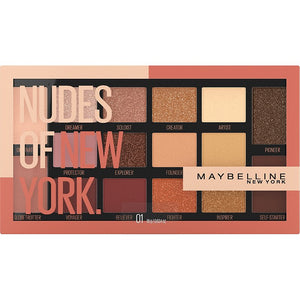 Maybelline Nudes of New York 16 Pan Eyeshadow Palette - Shopping District
