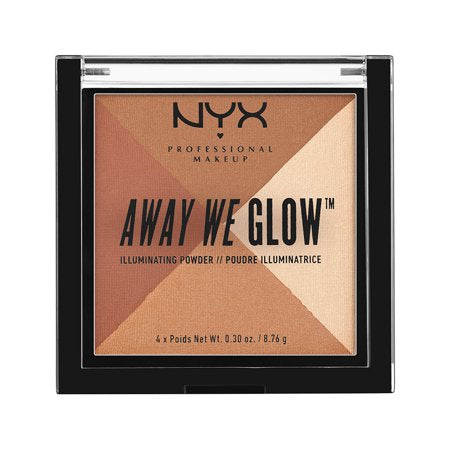 NYX Makeup Away We Glow Illuminating Powder, Shimmer Thrill - Shopping District