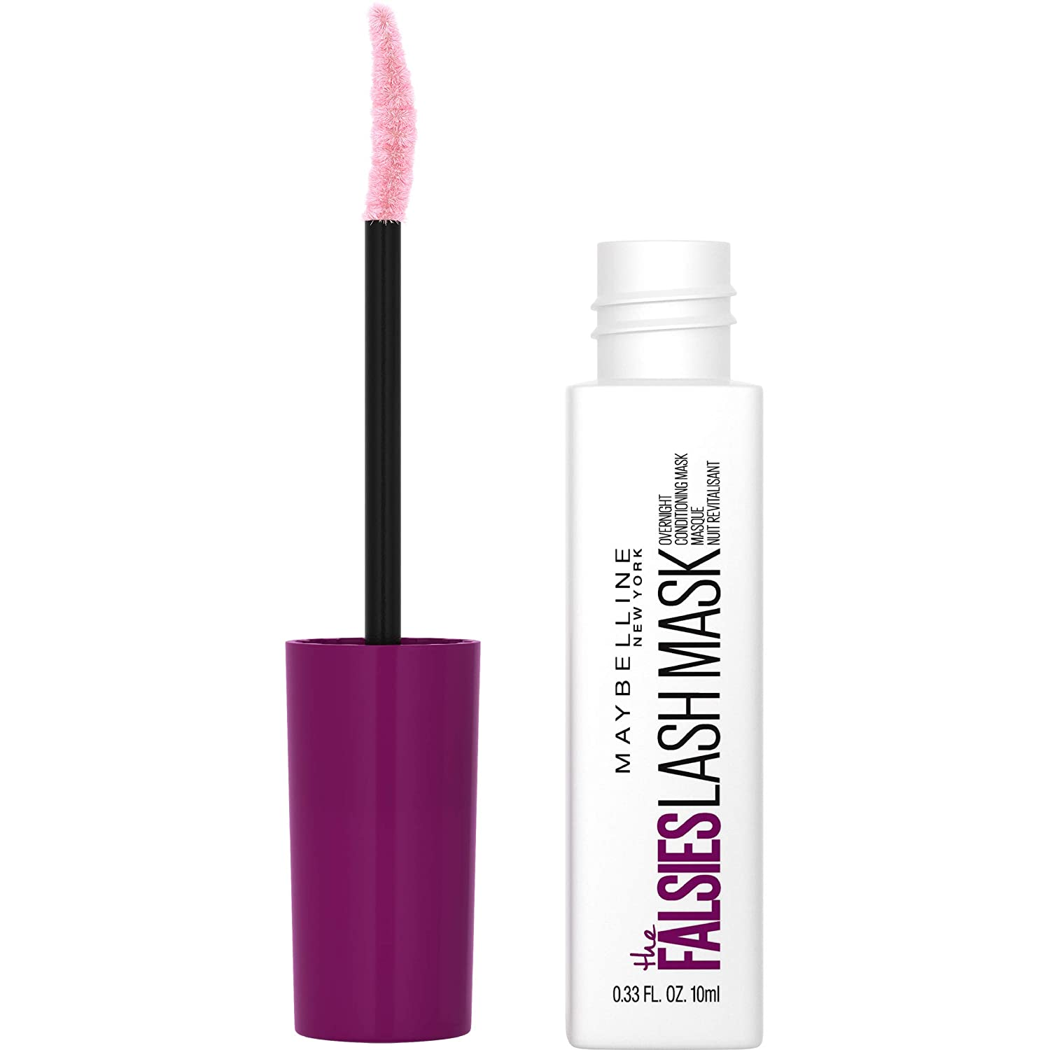 Maybelline The Falsies Lash Mask Overnight Eyelash Conditioner with Shea Butter and Argan Oil - Shopping District