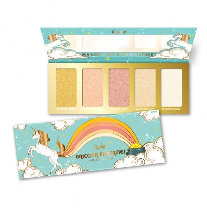 RUDE® Unicorn Fantasies - Highlight Palette - Shopping District