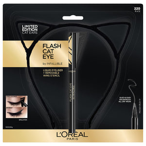 Loreal Infallible Flash Cat Eyeliner and Cat Ear Headband - Shopping District