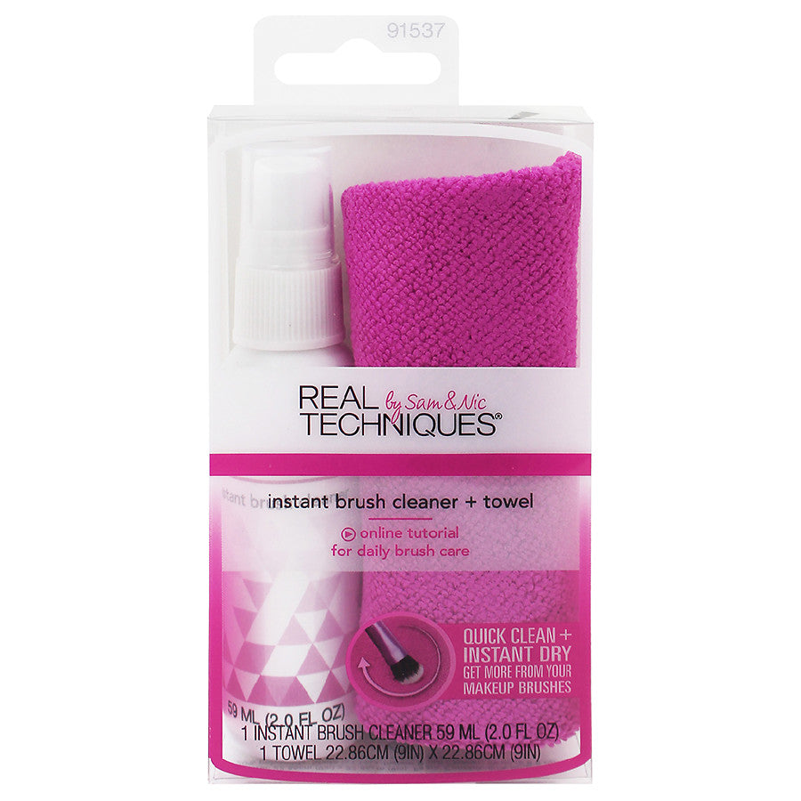 Real Techniques  Instant Brush Cleaner + Towel - Shopping District